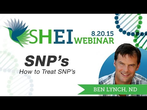 How to Treat SNP's Webinar by Dr Ben Lynch from YouTube · Duration:  1 hour 16 minutes 15 seconds