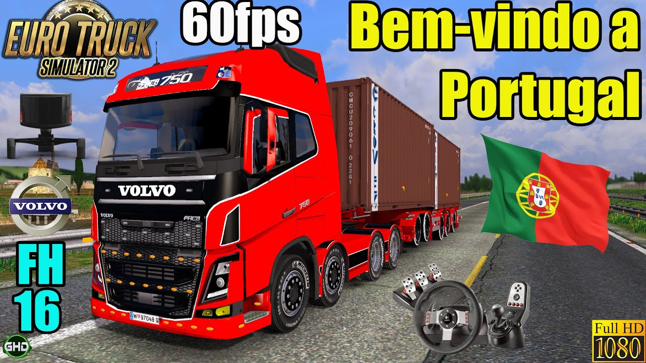 ETS Km To Portugal In A Volvo FH YouTube - Portugal map euro truck simulator 2
