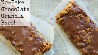 No Bake Chocolate Granola Bars