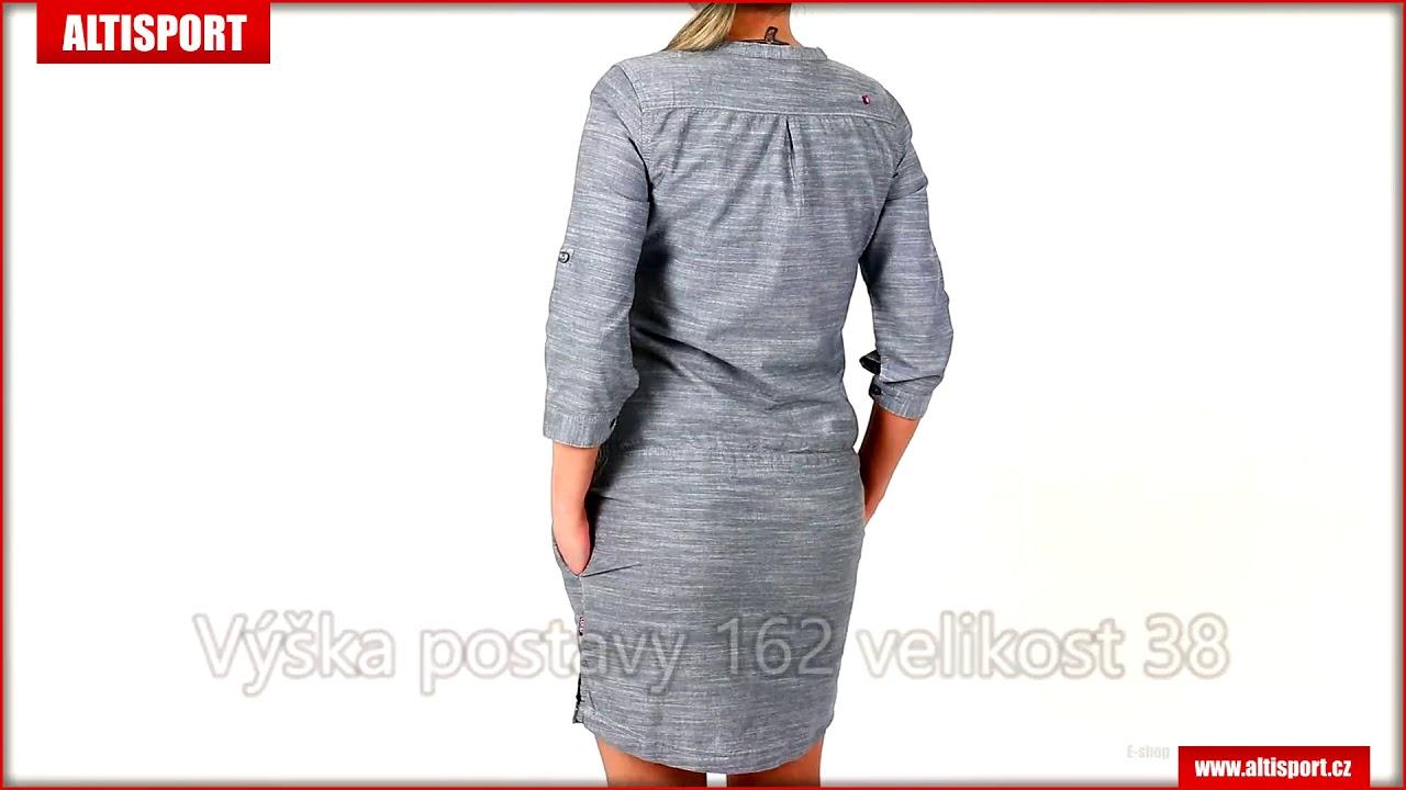 b39b0e7116ba dámské šaty loap nicia clw1889 šedá - YouTube