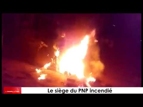 Le siège du PNP à Lomé et les boutiques contigües à ce dernier incendiés dans la nuit profonde