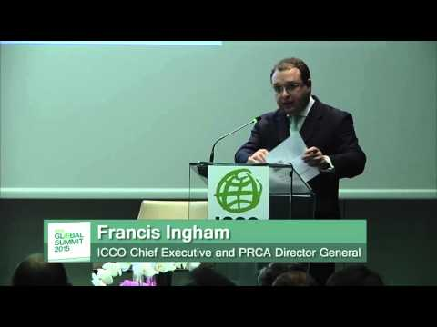 Francis Ingham, introduced ICCO at the ICCO Global Summit Milan 2015