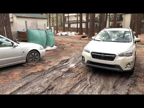 Big Bear, CA getting small hail. Thunderstorms in the area. March 5, 2019 rain is coming.
