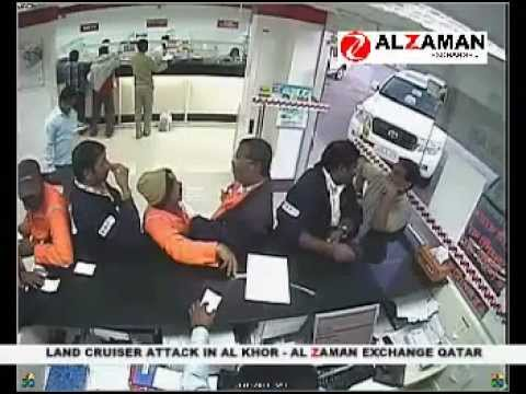 Land Cruiser Attack In Al Khor Al Zaman Exchange In Qatar-UsamaKaimKhani.mp4