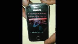 tutorial hard reset samsung galaxy GT- S5360L restablecer datos de fabrica