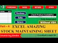 Gambar cover Stock Management in Excel Hindi Part - 4