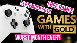 Xbox September 2018 FREE Games with Gold! FREE GAMES WITH XBOX LIVE GOLD SUBSCRIPTION!