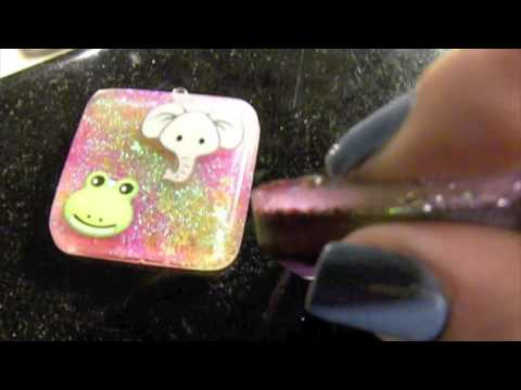 How to add Eye Pins to Resin Pieces