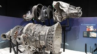 Apollo exhibit of recovered F-1 engines at The Museum of Flight