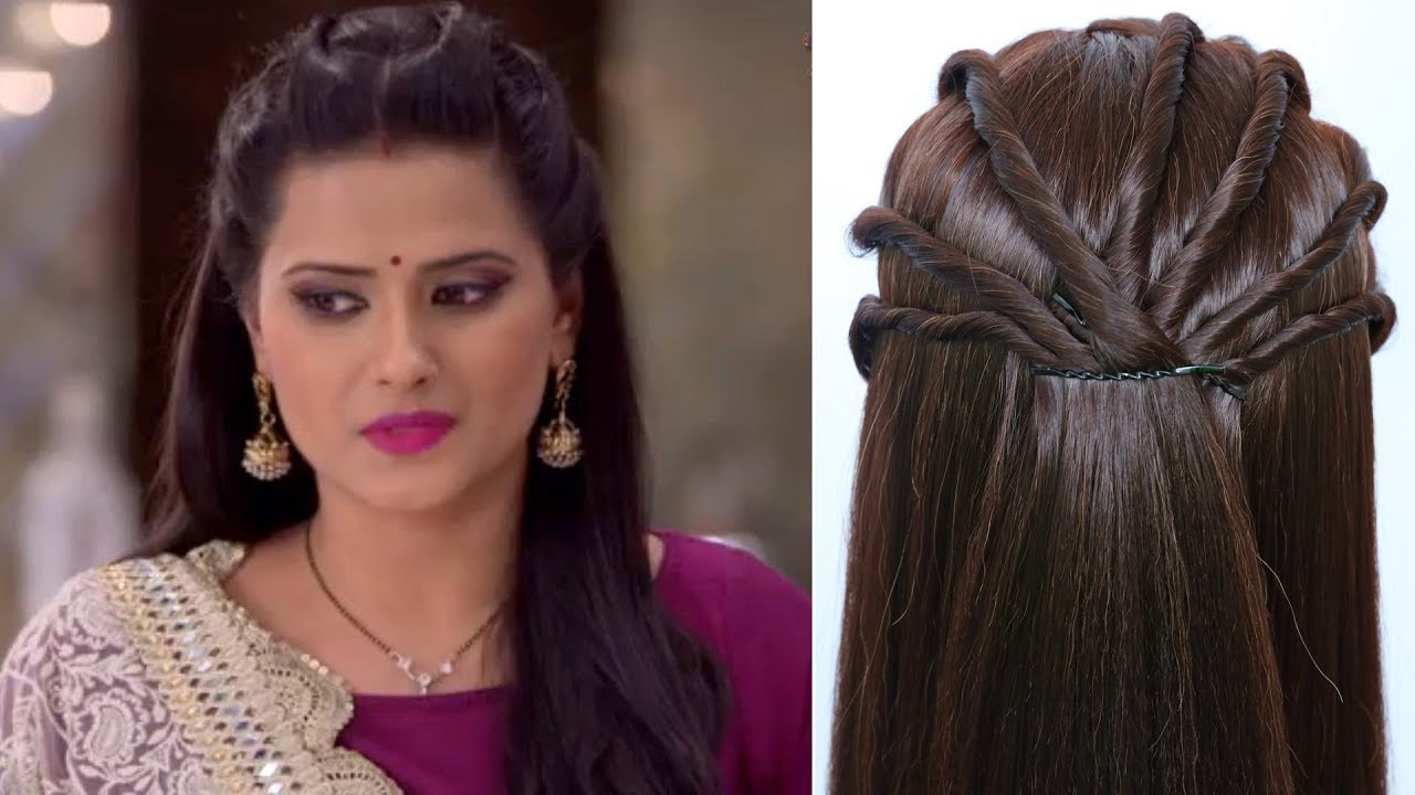 celebrity hairstyle || open hairstyle for party, gown, lehenga, saree, wedding || new hairstyle