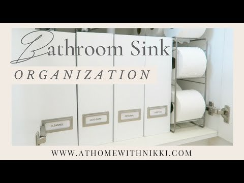 How To Organize Under The Bathroom Sink |DIY Small Space Organizing
