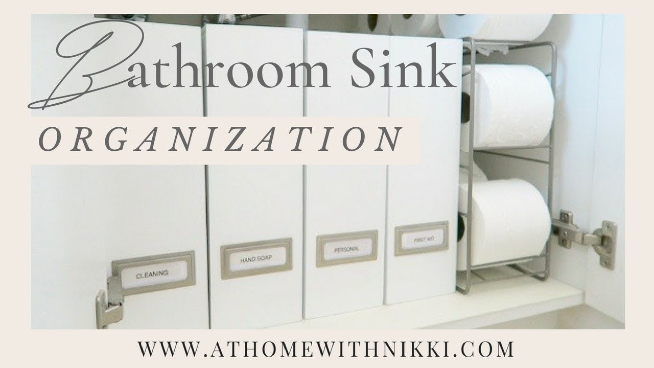 organizing under the bathroom sink how to organize the bathroom sink diy small space 23893