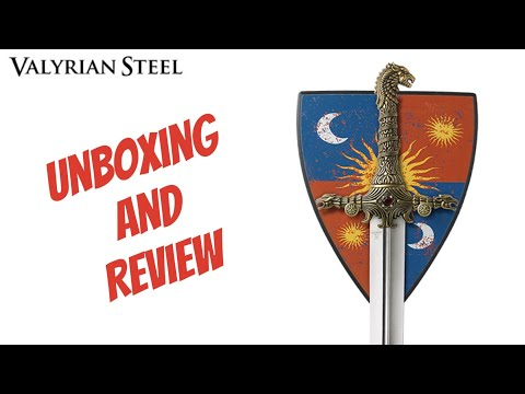 Oathkeeper Sword Valyrian Steel Unboxing Mini Review