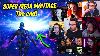 SUPER MEGA MONTAGGIO! STREAMER REAGISCONO ALL'EVENTO CONCLUSIVO DI FORTNITE! Buco nero! 😲