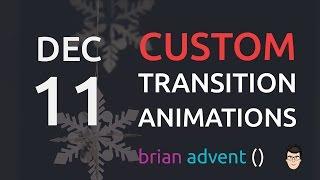 IOS OS | IOS | iOS Swift Tutorial: Create Custom Segue Transition Animations 11/24 🎄