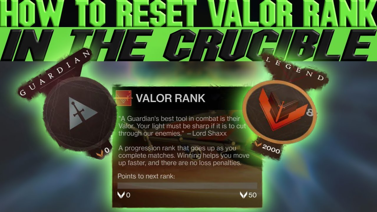 HOW TO RESET YOUR VALOR RANK IN CRUCIBLE VERY EASY