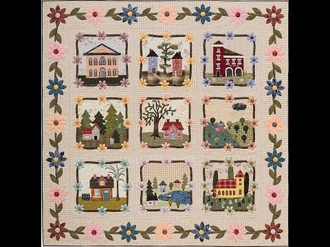 My Cozy Village Applique Tutorial