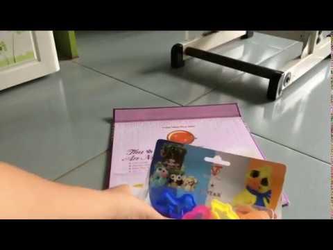 Giới thiệu bộ đất sét Thái Lan và chơi thử đất sét với khuôn tạo hình