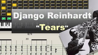 Django Reinhardt - Tears - (1937) - Virtual Guitar Transcription by Gilles Rea