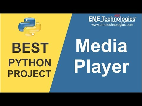 How To Create Media Player Software Project Using Python | Free Projects Download With Source Code