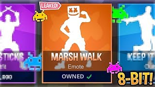 I Recreated *LEAKED* Fortnite Emotes Using 8-Bit Sounds..! (Marshmello Skin & Marsh Walk)