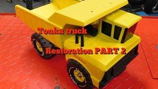 Tonka Truck restoration part 2 FINISHED!