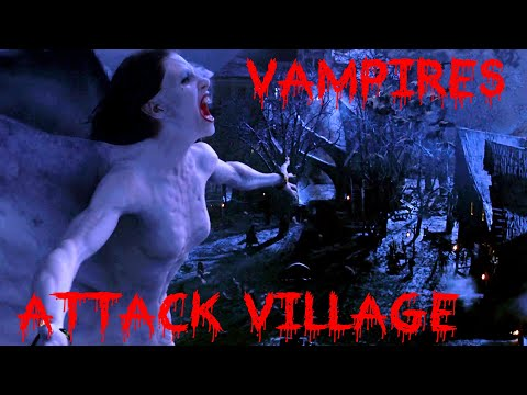 vampires attack village - feed my darling scene - female vampire - Van Helsing HD