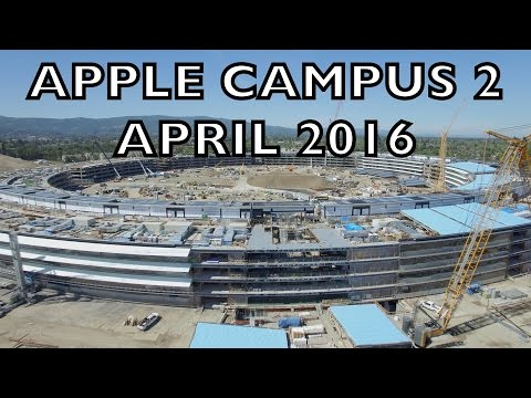 APPLE CAMPUS 2: April 2016 Construction Update 4K