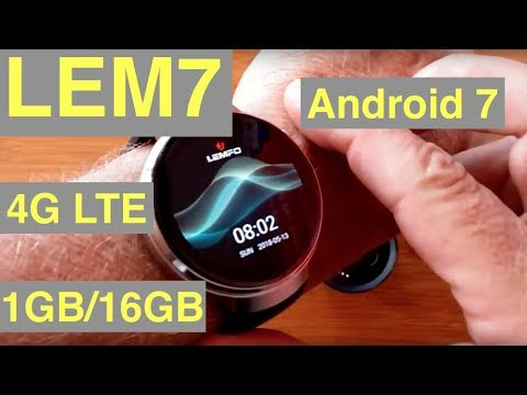 LEMFO LEM7 4G Cell 1GB/16GB Android 7 Smartwatch with 700 mAh Power Bank: Unboxing & 1st Look