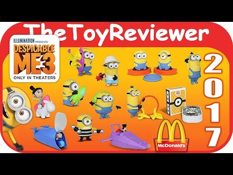 2017 Despicable Me 3 McDonalds Happy Meal COMPLETE SET 12 Unboxing Toy Review by TheToyReviewer
