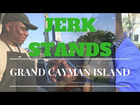Travel Grand Cayman Island Best Food Stands Jerk Chicken 2017