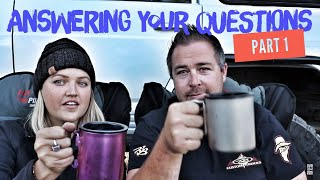 We answer your questions from facebook & Instagram / first month of full time travel 😊 Part 1