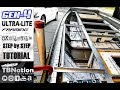 How to build Ultra-lite Aluminum boat Framing |  Step by step tutorial. Non-welded