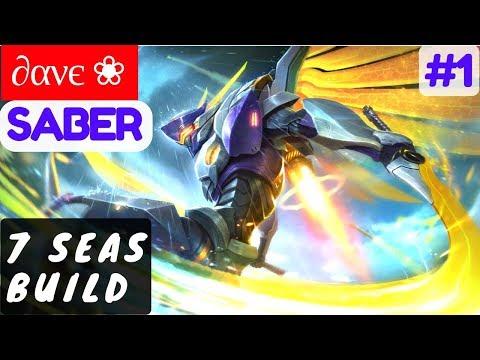 7 Seas Build [Rank 1 Saber] | ∂ανє ❀ Saber Gameplay and Build #1 Mobile Legends