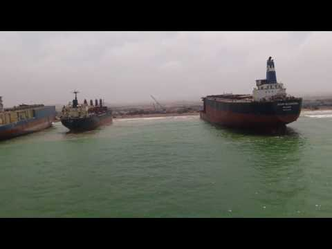 Ship beaching at gadani scrap yard in pakistan (mv the just)