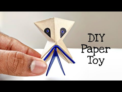 DIY Paper Alien Jumping Toy
