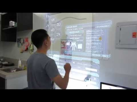 Pinoy 3D Visual Effects - Holographic touch screen monitor