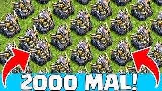 2000 MAL ADLER ARTILLERIE ZERSTÖRT! Clash of Clans CoC