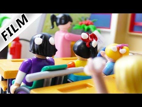 Playmobil Film deutsch   SPUCKROHR IM UNTERRICHT - bleibt Streich unbemerkt?Kinderfilm Familie Vogel