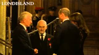 Royal family arrives to the Remembrance Festival at the Royal Albert Hall