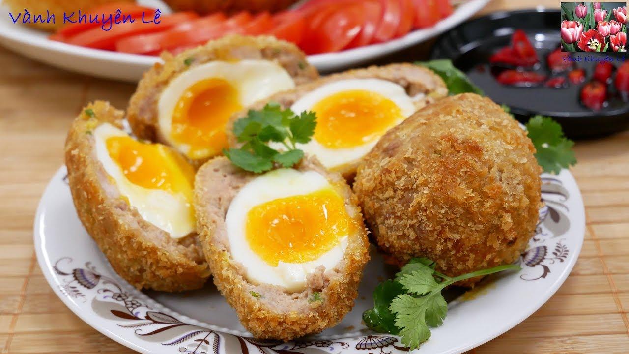 THỊT CHIÊN BỌC TRỨNG LÒNG ĐÀO – Scotch eggs, giòn thơm ngon kiểu Nhật by Vanh Khuyen
