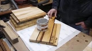 Воск Антик и интересные формы кухонных досок из дерева/ Столярные эксперименты в мастерской