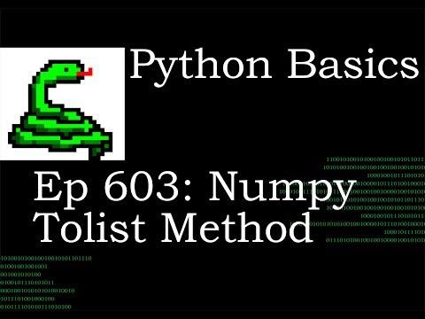 Python Basics Tutorial Numpy Array Tolist Method thumbnail