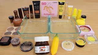Nutella vs Banana - Mixing Makeup Eyeshadow Into Slime Special Series 211 Satisfying Slime Video