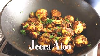 Jeera Aloo Recipe | Jeera Aloo | Stir Fried Boiled Potato with Cumin seeds & Spices | Vegan Recipe