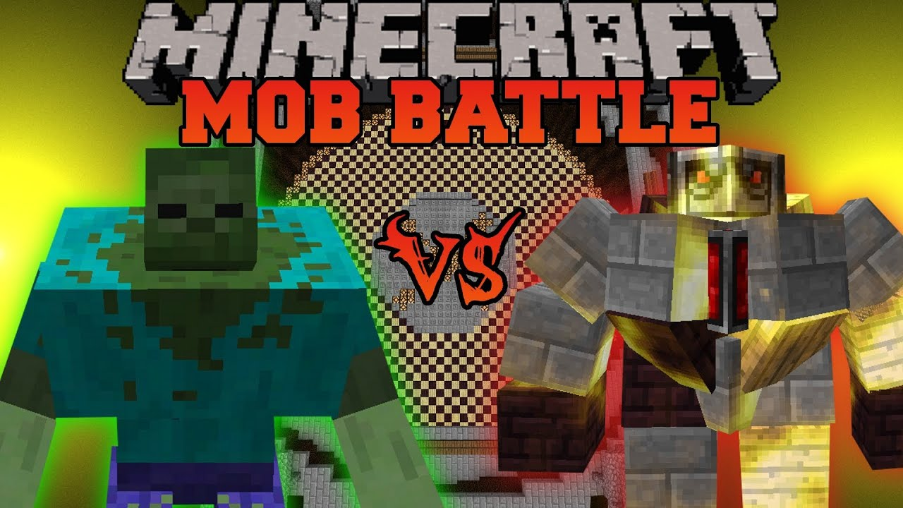 Mutant Zombie Vs Big Golem Minecraft Mob Battles Mo Creatures And Mutant Creatures Mods Youtube
