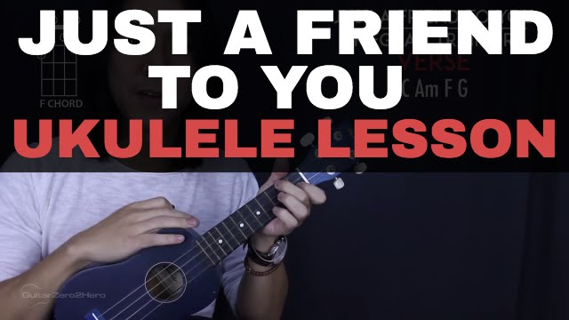 Just A Friend To You Meghan Trainor Ukulele Lesson Tutorial