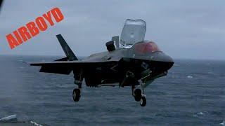 Raw Footage F-35B Lightning Deck Qualification USS Wasp (LHD-1)