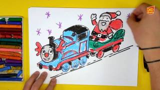 How to Draw Thomas and Friends and Santa Claus