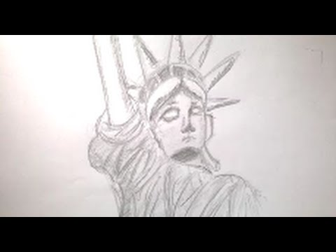 how to draw the statue of liberty kg draws youtube